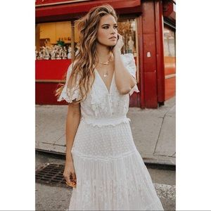 Spell & the Gypsy Collective Dawn Lace Gown Cream